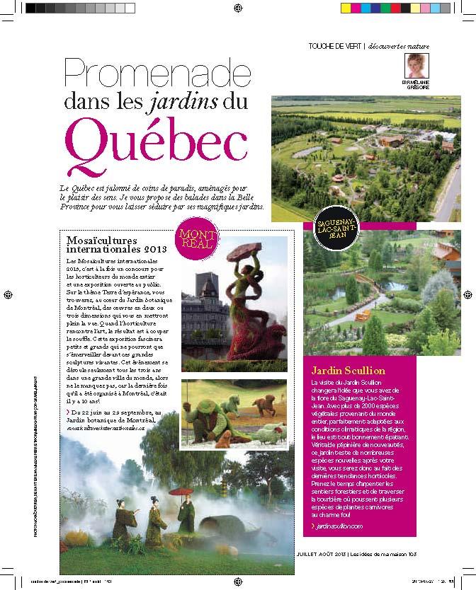 Les jardins du qu bec the gardens of quebec for Idees de ma maison magazine