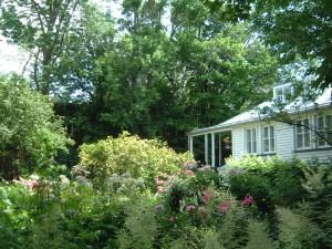 Jardin à l'anglaise de la maison Henry-Stuart