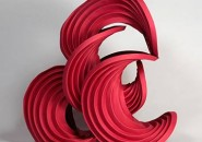 Erik et Martin Demaine, Fire Balance, 2012.   30 x25,4 x 17,5 cm.  Collection des artistes.